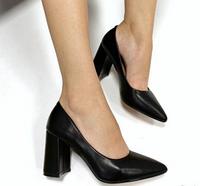 Туфли на широком каблуке 8 см Черные Супер Удобные 36р