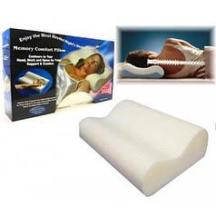 Подушка ортопедическая анатомическая с эффектом памяти для сна Memory Pillow White