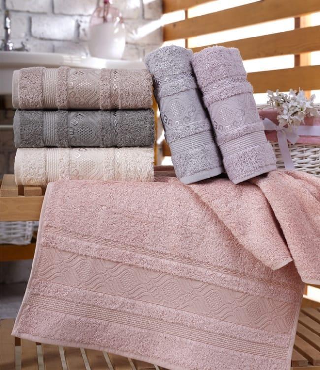 Набор полотенец для лица Sikel Bamboo Ekinos 70*140см бамбуковые банные 6шт арт.8681049350022