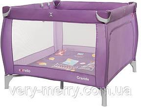 Детский манеж Carrello Grande (фиолетовый цвет)