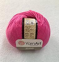 Пряжа Jeans 50гр - 160м (59 Фуксия) YarnArt 55 % хлопок, 45 % полиакрил, Турция