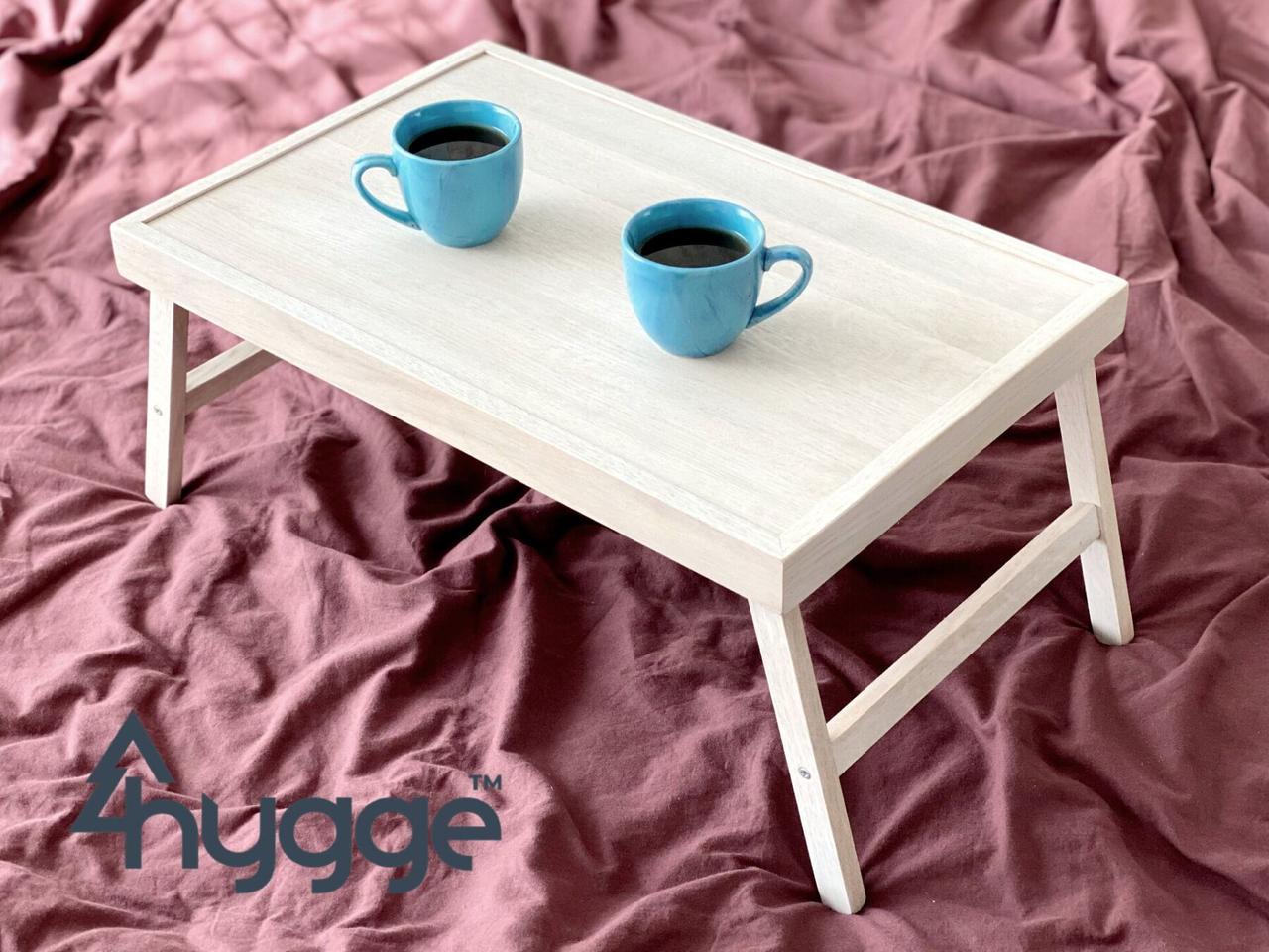 Столик для завтрака в постель из дуба Hygge™ Elite, белый