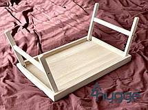 Столик для завтрака в постель из дуба Hygge™ Elite, белый, фото 3