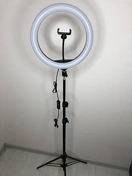 Профессиональная кольцевая лампа М-33  26 Вт ,  держатель для телефона , штатив 2 м