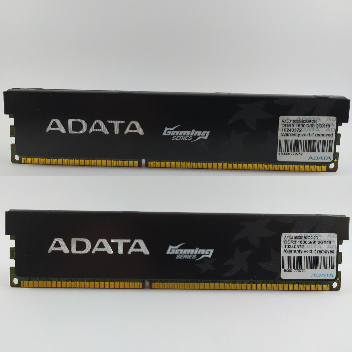 Комплект оперативной памяти ADATA XPG Gaming DDR3 4Gb (2*2Gb) 1600MHz PC3-12800 (AX3U1600GB2G9-2G) Б/У