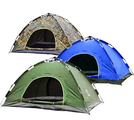 Палатка автоматическая 2-х местная СИНЯЯ, фото 2
