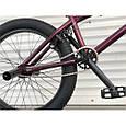 Велосипед трюковый подростковый ВМХ 5 колеса 20 дюймов БОРДОВЫЙ Крутой велосипед для трюков bmx, фото 3
