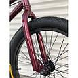 Велосипед трюковый подростковый ВМХ 5 колеса 20 дюймов БОРДОВЫЙ Крутой велосипед для трюков bmx, фото 4