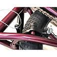Велосипед трюковый подростковый ВМХ 5 колеса 20 дюймов БОРДОВЫЙ Крутой велосипед для трюков bmx, фото 5