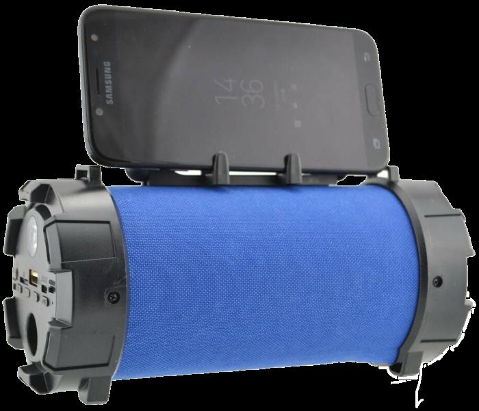 Портативна bluetooth колонка SPS F18 Super Bass з ліхтариком, Синя