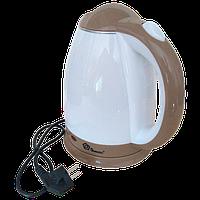 Електрочайник DOMOTEC MS-5025C - Чайник електричний 2.0 л 220V/1500W Коричневий, фото 1