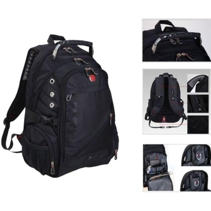 Рюкзак SwissGear Wenger 8810 - Швейцарський міський рюкзак, Чорний