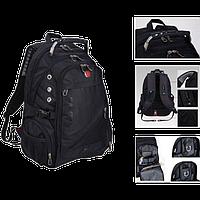 Рюкзак SwissGear Wenger 8810 - Швейцарський міський рюкзак, Чорний, фото 1