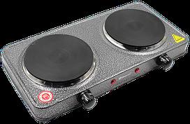 Электроплита DOMOTEC MS-5822 дисковая двойная - настольная электрическая плита на две конфорки (2000 Вт)