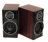 Компьютерные колонки FnT SW-2031 деревянные - акустические колонки для ПК, колонки для ноутбука, фото 1