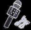 Микрофон караоке Wester WS-858 - беспроводной Bluetooth микрофон для караоке с плеером Черный, фото 6
