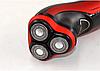Електробритва Domotec MS-7731 - бездротова бритва з тримером Червона, фото 4