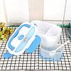 Ланч-бокс автомобільний електричний Electric Lunch box з підігрівом 1.05 л - Контейнер для їжі 12V Синій, фото 5