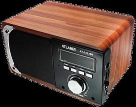 Портативная Bluetooth колонка акустическая Atlanfa AT-1822ВТ - FM радиоприемник, 6W + USB и Power Bank, фото 2