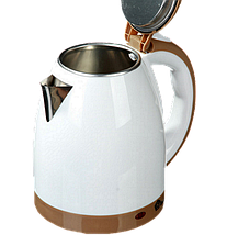 Електрочайник DOMOTEC MS-5025C - Чайник електричний 2.0 л 220V/1500W Коричневий, фото 2
