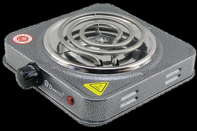 Електроплита DOMOTEC MS-5801 спіральна - настільна електрична плита 1 конфорка (1000 Вт), фото 2