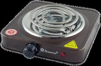 Електроплита DOMOTEC MS-5801 спіральна - настільна електрична плита 1 конфорка (1000 Вт), фото 3