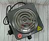 Електроплита DOMOTEC MS-5801 спіральна - настільна електрична плита 1 конфорка (1000 Вт), фото 6