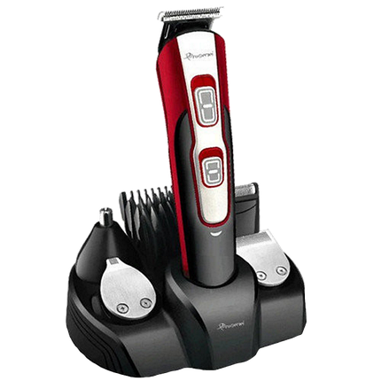Беспроводная машинка для стрижки GEMEI GM-592 10 в 1, Триммер для носа и ушей, бороды, фото 2