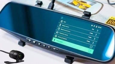 Автомобильный видеорегистратор DVR L9000 FullHD 1080p - видеорегистратор зеркало с двумя камерами, фото 3
