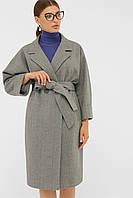 Серое женское демисезонное пальто П-300-100, фото 1