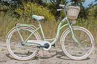 Велосипед женский городской VANESSA 28 Mint с корзиной Польша, фото 1