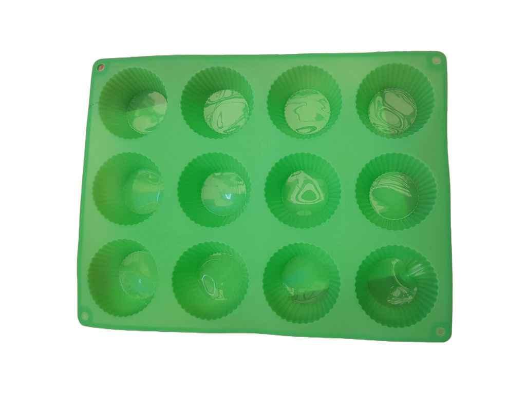 Форма силіконова для 12-ти кексів 33х25х4 см d=7 см ТМALI