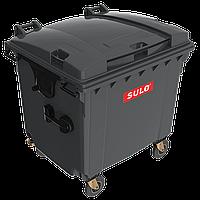 Контейнер сміттєвий ТПВ Sulo 1100 л з плоскою кришкою сірий
