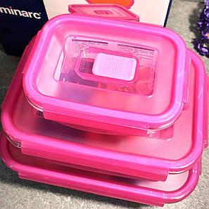 Набор прямоугольных пищевых контейнеров Luminarc Pure Box Active Neon 3 шт (N0332), фото 2