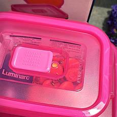 Набор прямоугольных пищевых контейнеров Luminarc Pure Box Active Neon 3 шт (N0332), фото 3