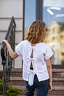 Детская блуза с коротким рукавом и бантиками на спине 116-122 см Tiny look
