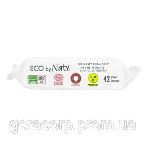 Органические смываемые салфетки Eco by Naty с легким запахом 42 шт, фото 2