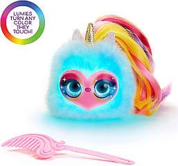 Светящийся единорог - Пикси Интерактивная плюшевая игрушка Лумиес Помсис POMSIES Lumies Pixie Pop