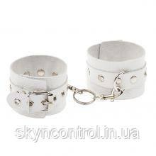 Наручники Leather Double Fix Leg Cuffs, White