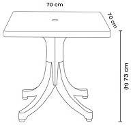 Стол квадратный Papatya Фавори 70x70 белый, фото 2