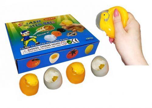 """Іграшка антистрес водний м'яч-лизун Яйці з курчам 8 см до/1/12шт,ТМ """""""" MLegg8"""