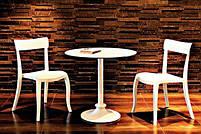 Стул Papatya Hera-S белое сиденье, верх прозрачно-чистый, фото 2