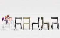 Стул Papatya Hera-S белое сиденье, верх прозрачно-чистый, фото 3