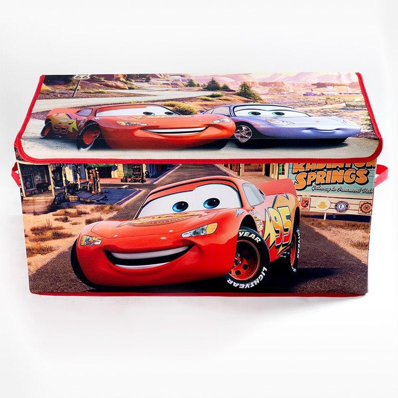 Коробка ящик для хранения игрушек и детских вещей Тачки SKL18-254805