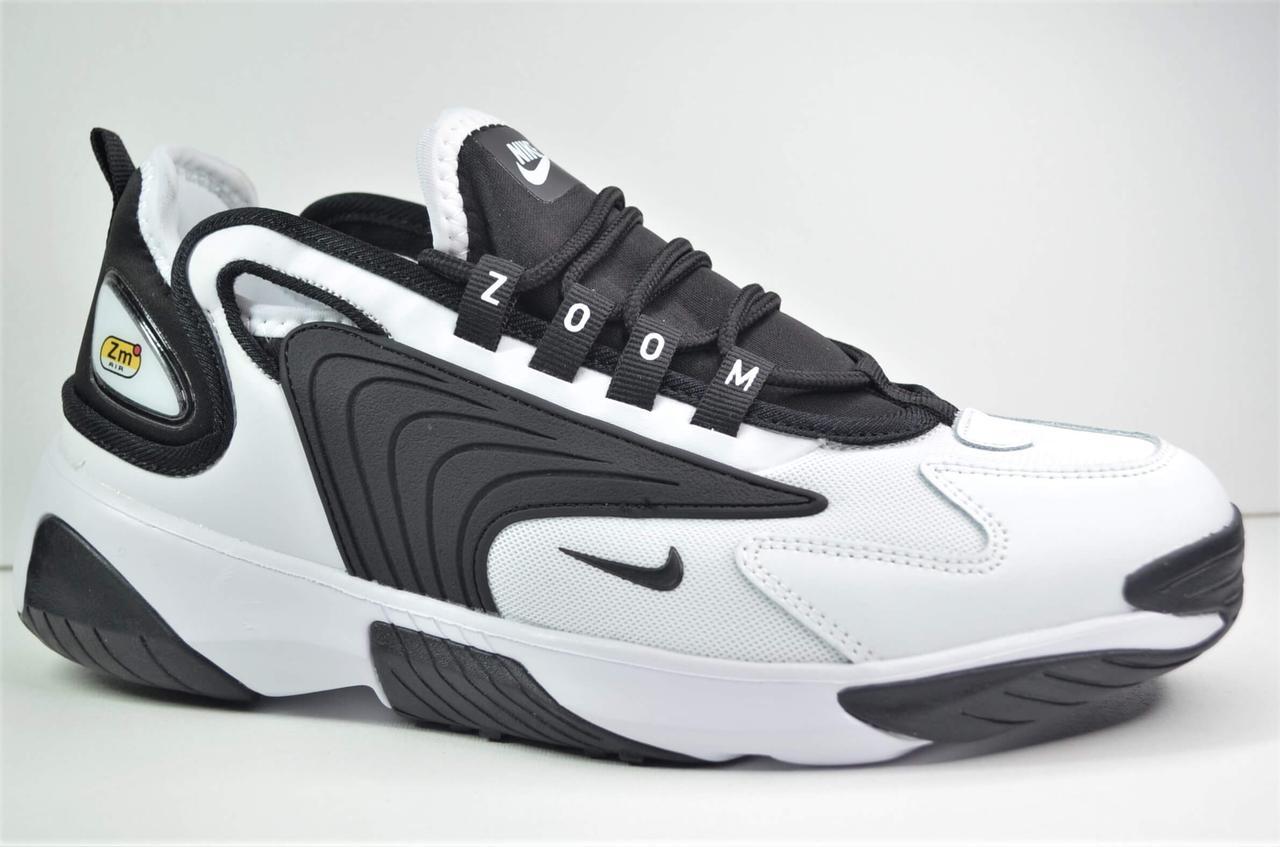 Чоловічі кросівки білі з чорним Nike ZOOM 2K (5225 - 4)