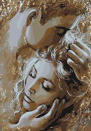 KH4563 Раскраска по номерам Золотые объятия, Без коробки, фото 2