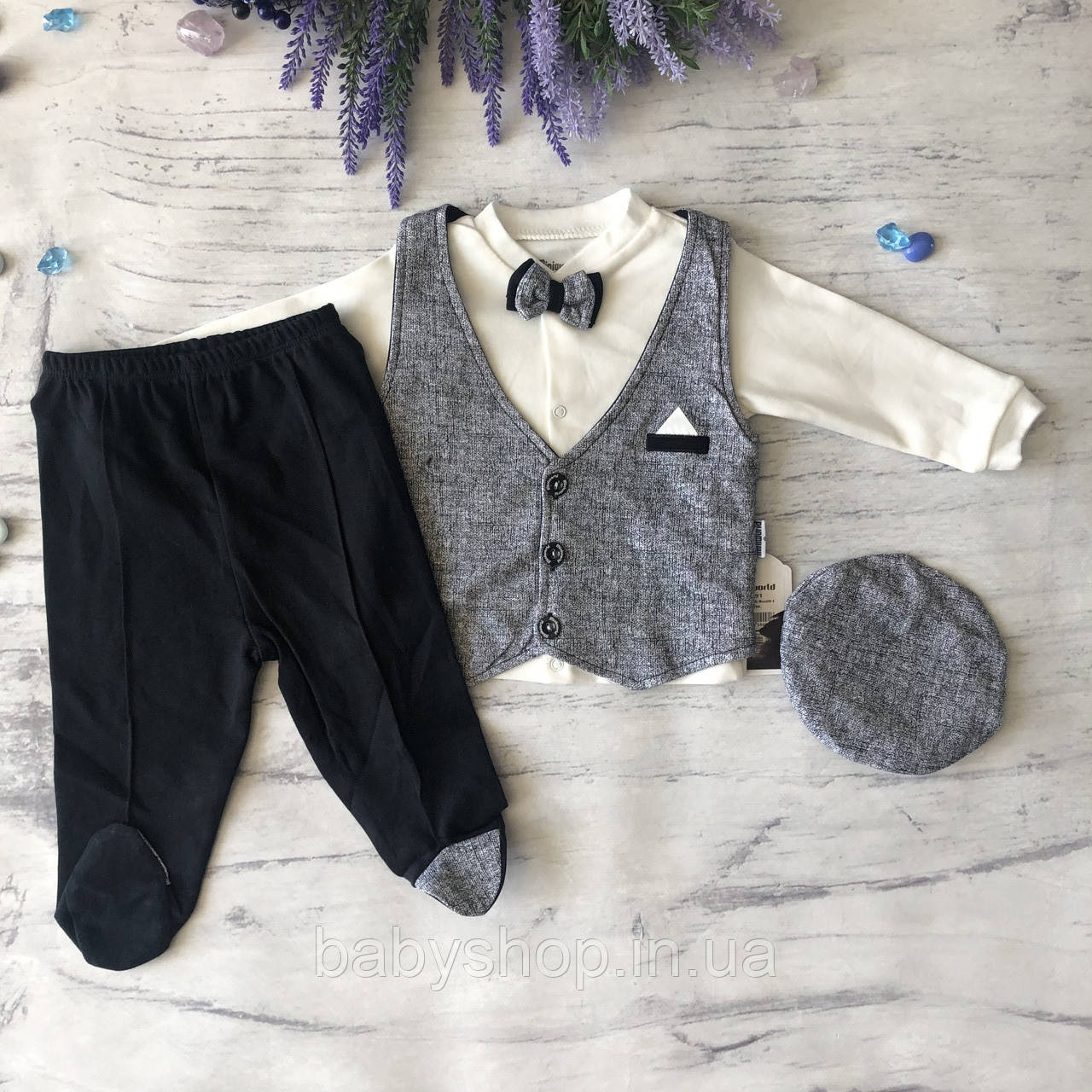 Нарядный, Крестильный костюм,  для мальчика Miniworld 8. Размер 68 см, 74 см