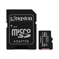 Флеш память microSDXC 64GB Kingston Canvas Select Plus (Class 10) + SD-адаптер (SDCS2/64GB)