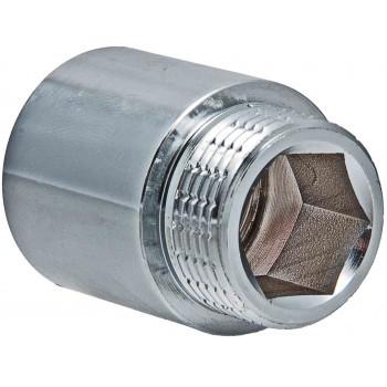 """Удлинитель Valtec 1"""" вн. х80 мм (Хром)"""