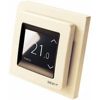 Терморегулятор DEVI Devireg Touch с датчиком пола и воздуха, бежевый